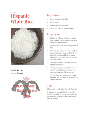 Hispanic White Rice!